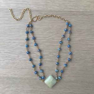 The Truth of the Nile Amazonite and Lapis Lazuli Goddess Headpiece