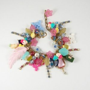 Treasure Island Magical Mayhem Pink and Blue Charm Bracelet